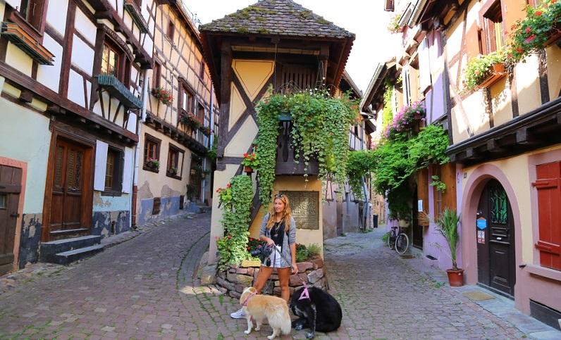 Der wesentliche Grund dafür, dass Eguisheim ein sehr beliebtes Ziel für Urlauber ist, besteht in der wunderschönen Altstadt.